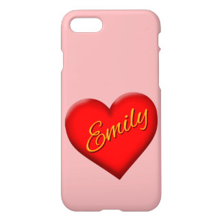 Emily with Heart iPhone 8/7 Case
