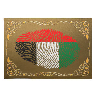 Emirate touch fingerprint flag placemat