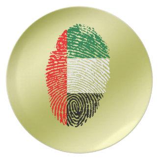 Emirate touch fingerprint flag plate