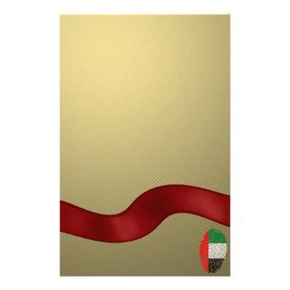 Emirate touch fingerprint flag stationery