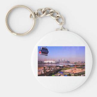 Emirates Cable Car Skyline Basic Round Button Key Ring