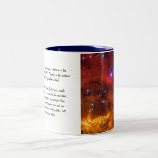Emission Nebula NGC 2467 in Constellation Puppis Two-Tone Coffee Mug