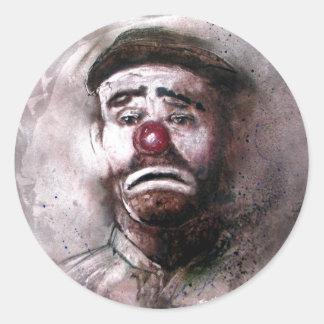 Emit Kelly Clown Art.jpg Round Sticker