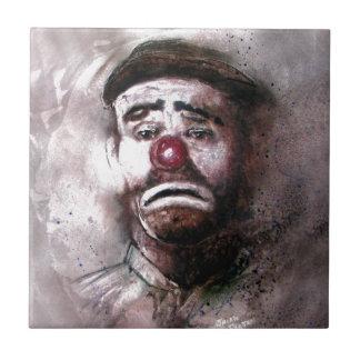 Emit Kelly Clown Art.jpg Small Square Tile