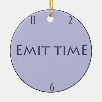 Emit time round ceramic decoration