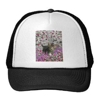 Emma in Flowers I – Little Gray Kitten Mesh Hat