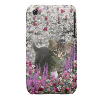 Emma in Flowers I – Little Gray Kitten iPhone 3 Case