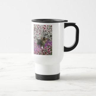 Emma in Flowers I – Little Gray Kitten Mugs