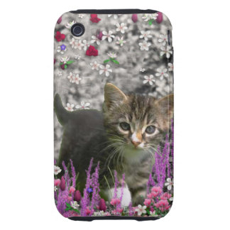 Emma in Flowers I – Little Gray Kitty Cat iPhone 3 Tough Case
