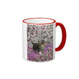 Emma in Flowers I – Little Gray Kitty Cat Mug