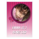 Emma is 2 years old custom invitation