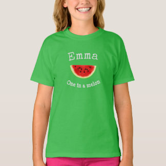 """Emma or Your Child's Name """"One in a melon"""" shirt"""