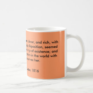 Emma Woodhouse, handsome, clever, and rich, wit... Basic White Mug