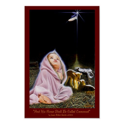 """""""Emmanuel: God with Us"""" Poster"""