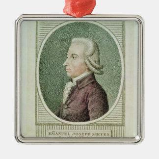 Emmanuel Joseph Sieyes Silver-Colored Square Decoration