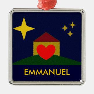 EMMANUEL Silver-Colored SQUARE DECORATION