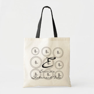 Emma's Cute Chic Funny Birds  Statement Tote