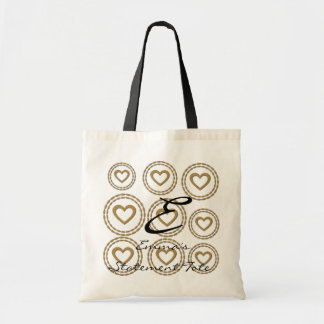 Emma's Cute Chic Gold Hearts  Statement Tote