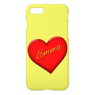 Emma's Phone Case with Heart