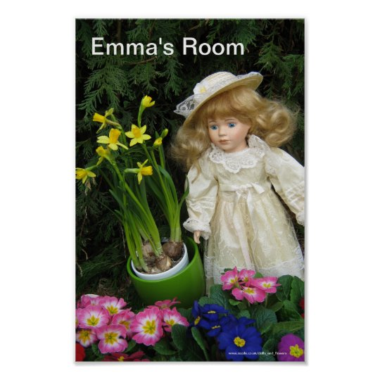 Emma's room poster