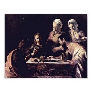 "Emmausmahl By Michelangelo Merisi Da Caravaggio 4.25"" X 5.5"" Invitation Card"