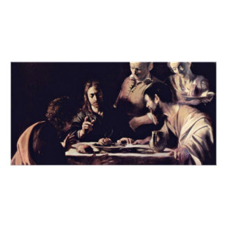 Emmausmahl By Michelangelo Merisi Da Caravaggio Photo Greeting Card