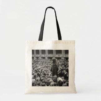 Emmeline Pankhurst - Wall St. Budget Tote Bag