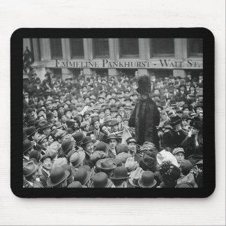 Emmeline Pankhurst - Wall St.  Mousepads