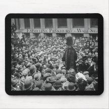 Emmeline Pankhurst - Wall St. Mousepad