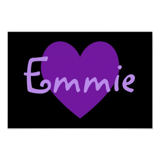 Emmie in Purple Poster