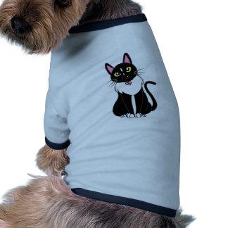 Emmy The Tuxedo Cat Ringer Dog Shirt