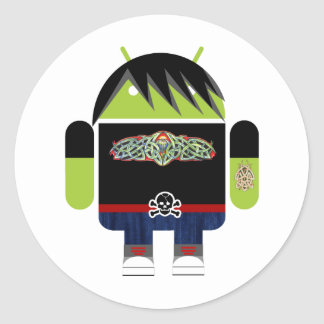 Emo Andy the Android Round Sticker