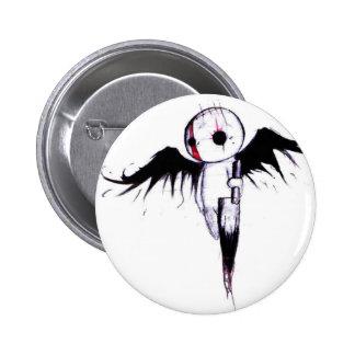 Emo Angel 6 Cm Round Badge