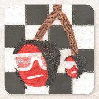 Emo Cherries Square Coaster