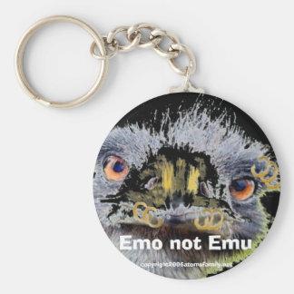 emo Emo not Emu Keychain