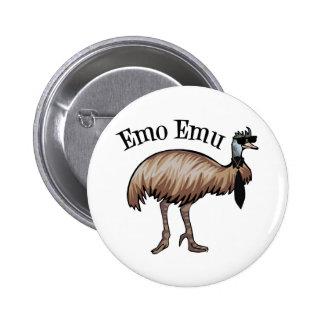 Emo Emu Pinback Buttons
