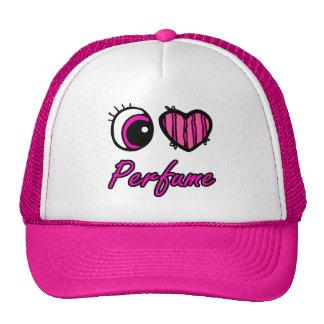 emo eye heart i heart perfume hats