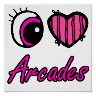 Emo Eye Heart I Love Arcades Poster