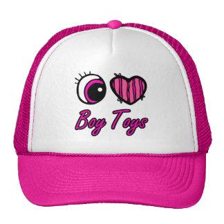 Emo Eye Heart I Love Boy Toys Cap