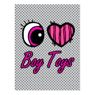 Emo Eye Heart I Love Boy Toys Postcard