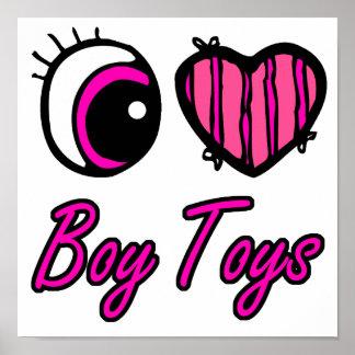 Emo Eye Heart I Love Boy Toys Print