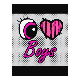 Emo Eye Heart I Love Boys Flyer
