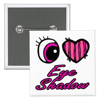 Emo Eye Heart I Love Eye Shadow 15 Cm Square Badge