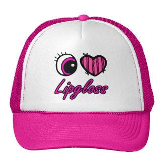 Emo Eye Heart I Love Lipgloss Mesh Hats