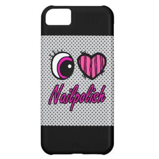 Emo Eye Heart I Love Nail polish iPhone 5C Case