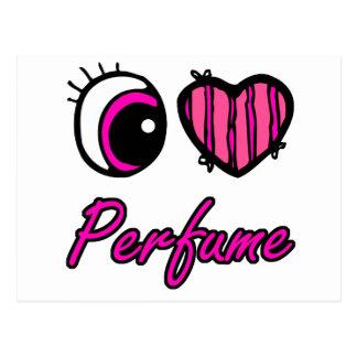 Emo Eye Heart I Love Perfume Postcard