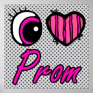 Emo Eye Heart I Love Prom Posters