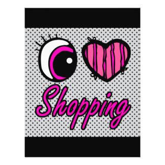 Emo Eye Heart I Love Shopping 21.5 Cm X 28 Cm Flyer