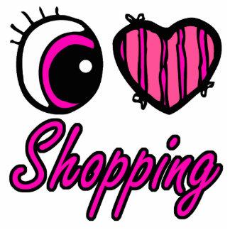 Emo Eye Heart I Love Shopping Photo Cutouts