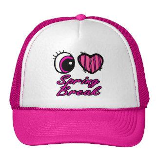 Emo Eye Heart I Love Spring Break Trucker Hats